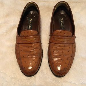 Peanut brittle full quill ostrich loafers